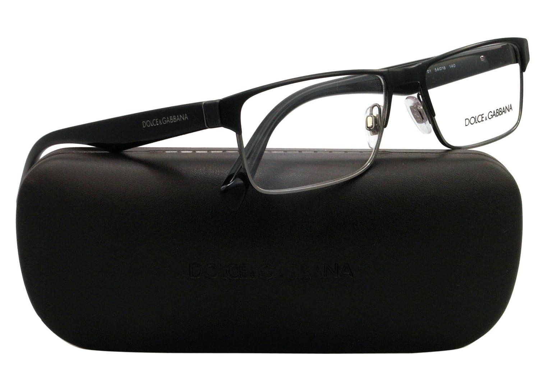 5baac51cacbd Amazon.com  Dolce Gabbana TAILORING DG1232 Eyeglass Frames 01-5416 - Black  Gunmetal  DOLCE GABBANA  Shoes