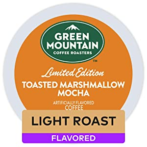 Green Mountain Coffee Roasters Toasted Marshmallow Mocha, Single Serve Coffee K-Cup Pod, Flavored Coffee, 72 Count