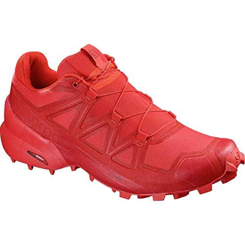 SALOMON Men's Speedcross 5 Trail Running Shoes, High Risk RedBarbados CherryBarbados Cherry, 12.5 M US