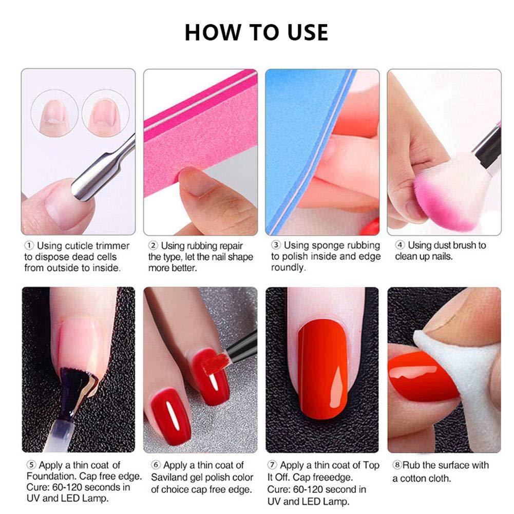 Lápiz de gel de un paso, Leegoal 3 en 1 para esmalte de uñas, sin necesidad de capa superior, remoja el esmalte de uñas UV LED Kit de arte de uñas: ...