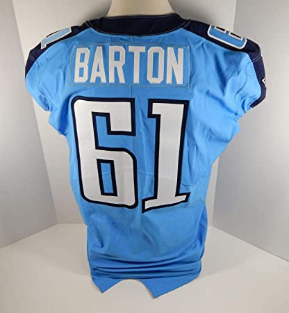 best service 38fe9 aa7ca 2016 Tennessee Titans Karim Barton #61 Game Issued Light ...