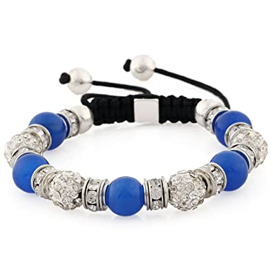 bbb76dbaf10e Morella pulsera con gemas y piedras de circonita Strass de color plata-azul