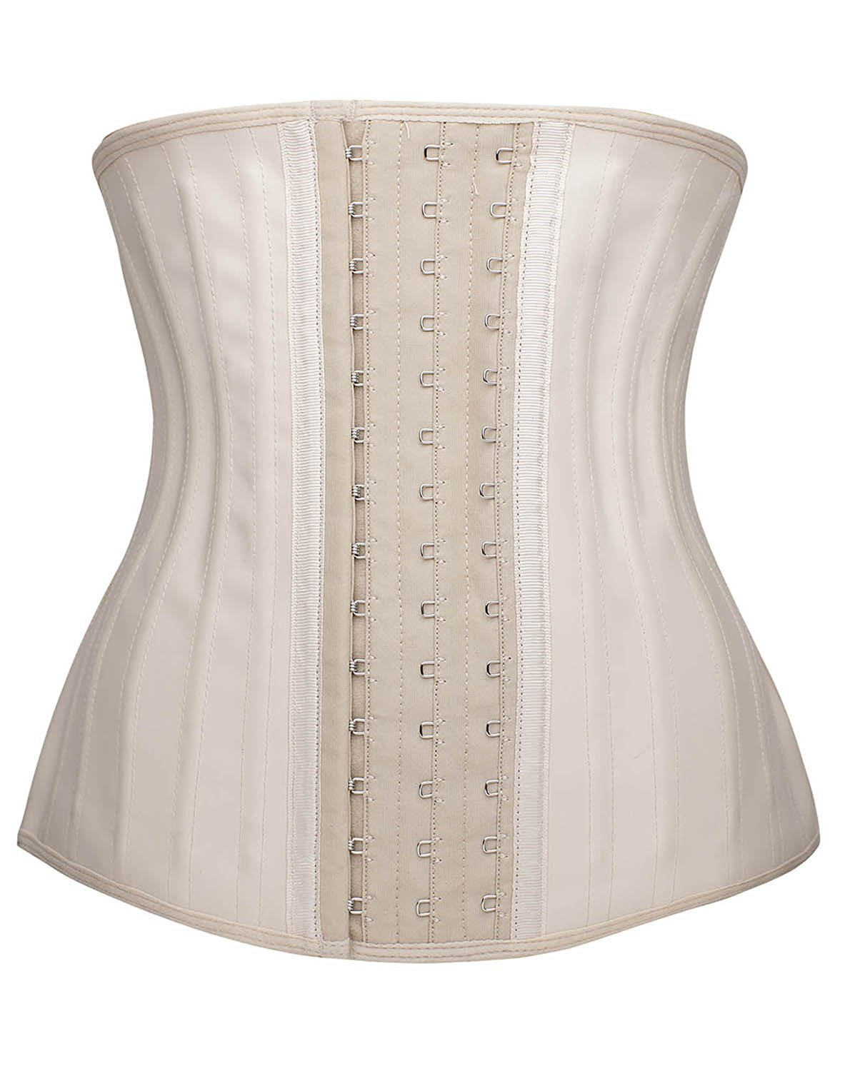 YIANNA Womens Waist Trainer Underbust 25 Steel Boned Sports Fitness Fat Burning Workout Hourglass Body Shaper, YA1210-Beige-6XL