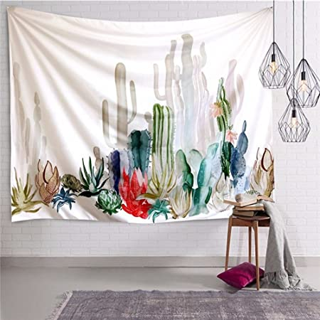 Cactus TapestryCactus Landscape Wall Tapestry Hangings Watercolor Room Decor Home