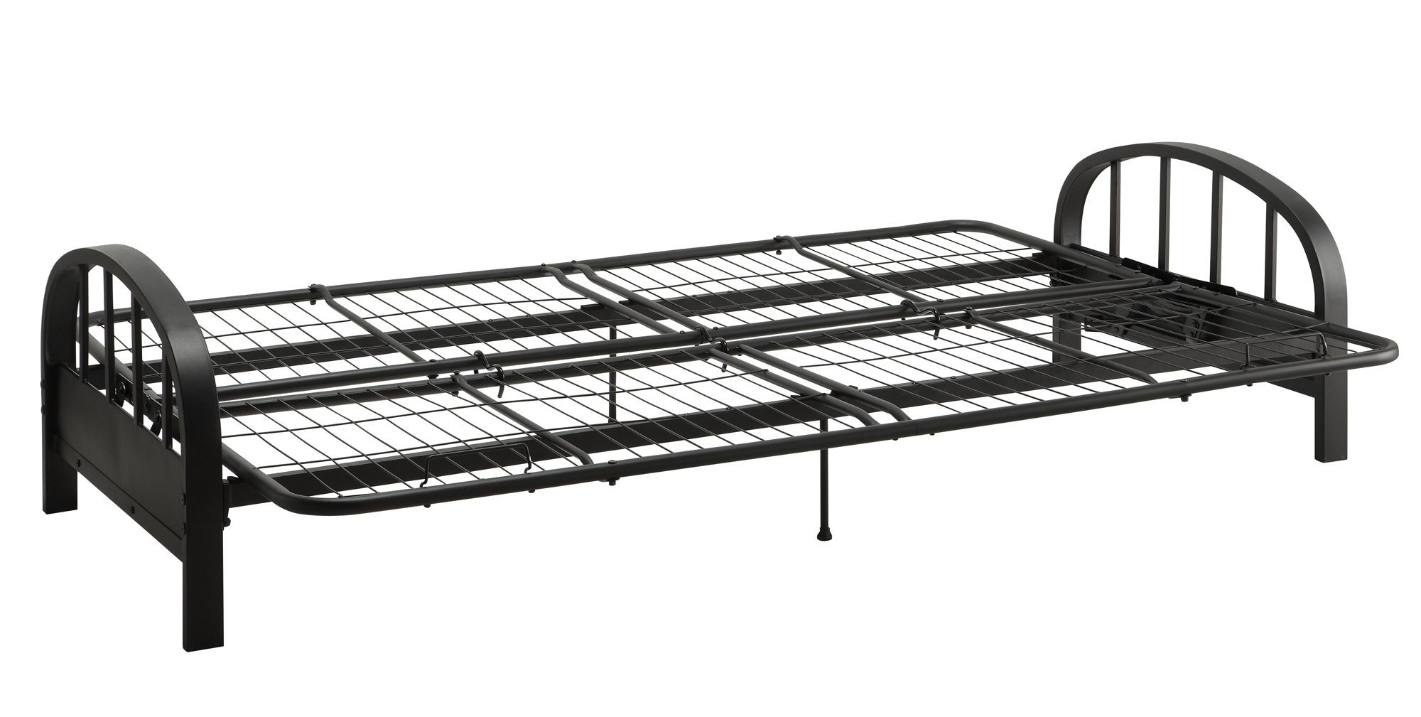 DHP Aiden Futon Metal Frame, Converts Easily to a Full- Size Bed, Black by DHP (Image #4)