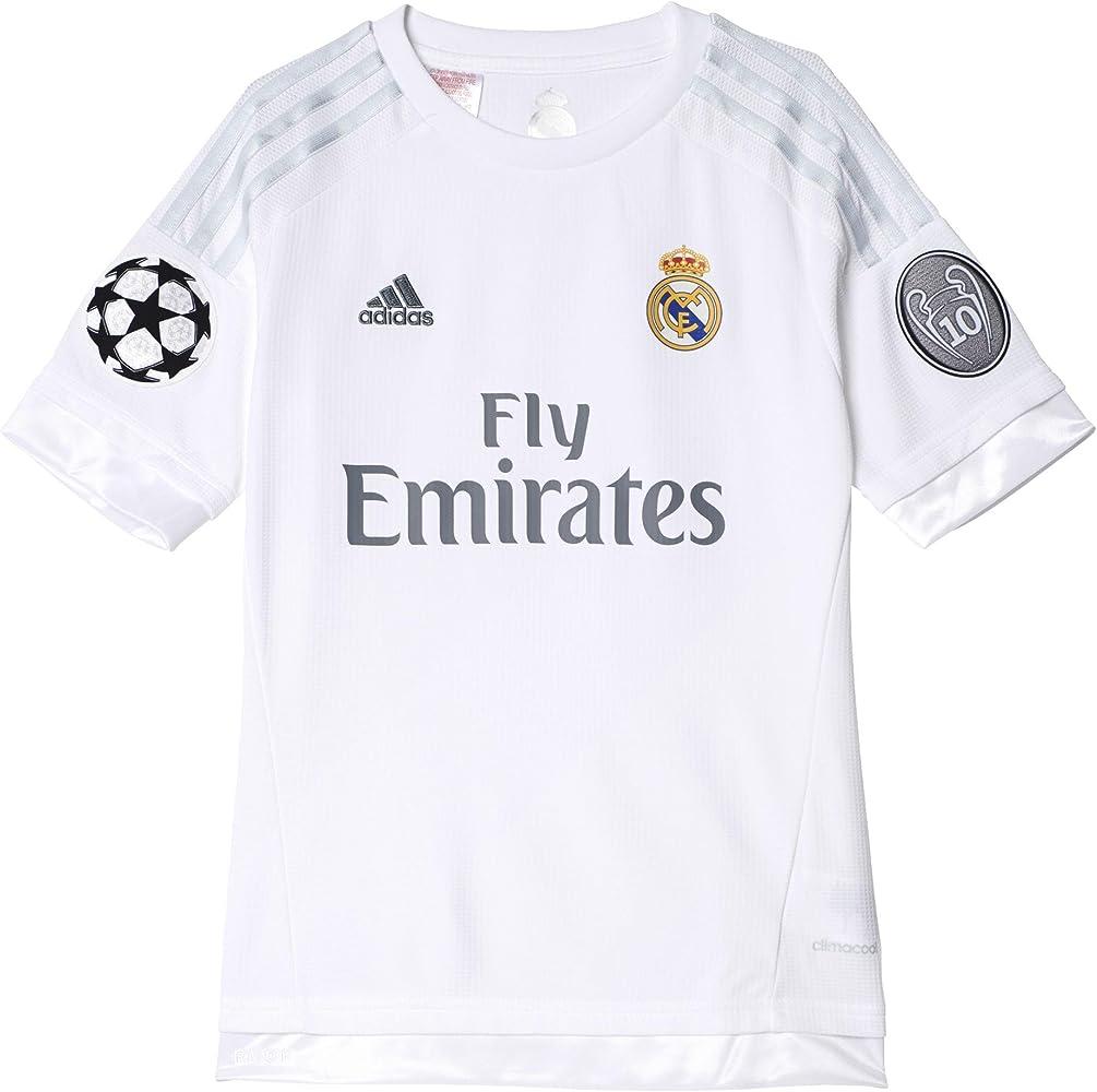adidas Real Madrid UCL Home Camiseta, Niño, Multicolor (White/Clear Grey), 140: Amazon.es: Ropa y accesorios