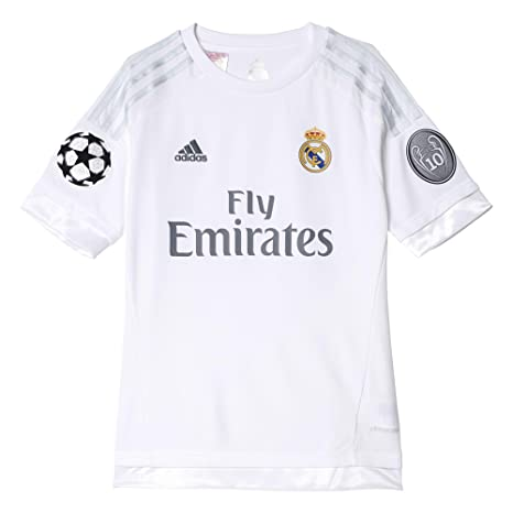 4cc8f8e5d1f Amazon.com   adidas Real Madrid Kids UCL Home Jersey 2015 16-11-12 ...