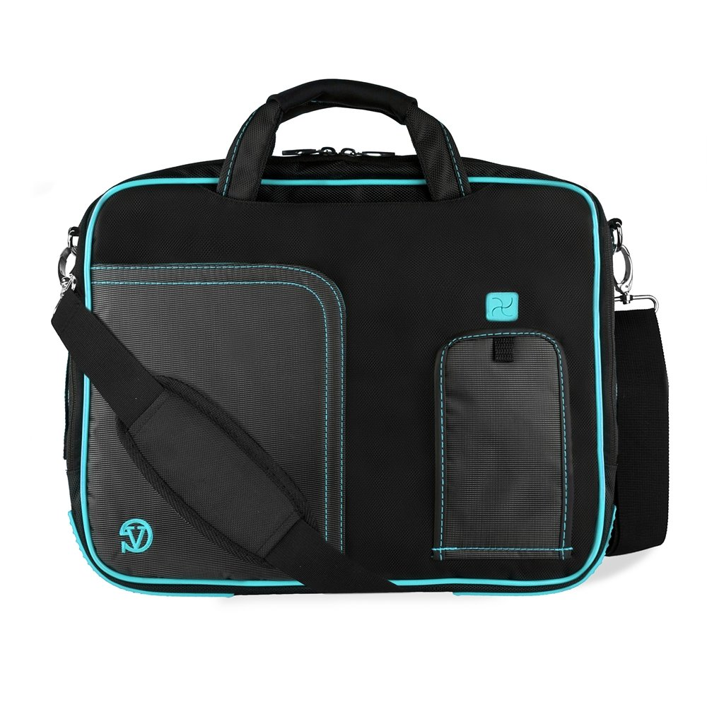 good Water Resistant Nylon Aqua Laptop Messenger / Shoulder Bag for Acer Chromebook 11.6 13.3 14 Inch
