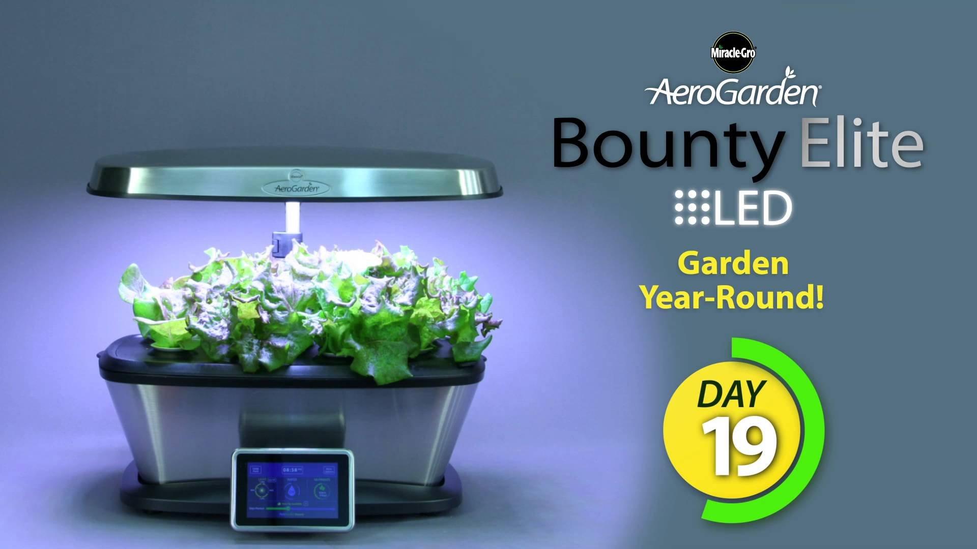 Aerogarden Bounty Elite Wi-Fi Stainless Steel Indoor Garden with Cherry Tomato Kit by AeroGrow (Image #8)