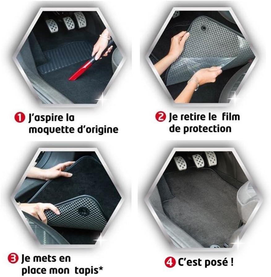 DBS Tapis Auto 3 Pi/èces Gamme Star Moquette Noir 900g//m/² Finition Velours 1765713 sur Mesure Antid/érapant Tapis de Sol pour Voiture
