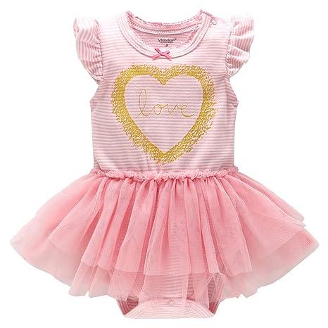 Recién nacido Tutú Pelele Vestido A rayas Body Verano Jumpsuit Bebé Tuta Outfits Cumpleaños Princesa Trajes