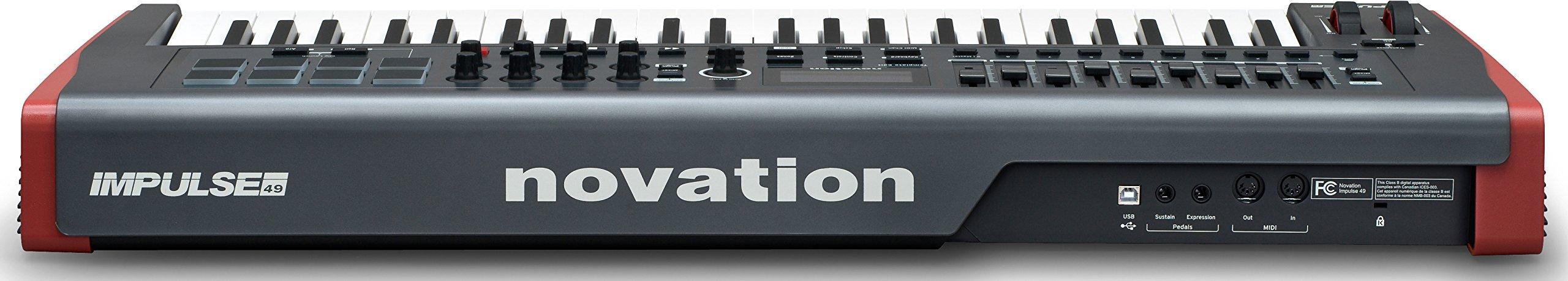 Novation Impulse 49 Keyboard Bundle with MIDI Cables and Austin Bazaar Polishing Cloth by Novation (Image #4)