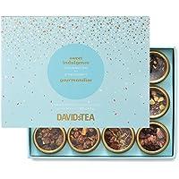 DAVIDsTEA Sweet Indulgence Tea Sampler, Dessert Loose Leaf Tea Gift Set, Assortment of 12 Decadent Teas, 122 g / 4.3 oz (SP)