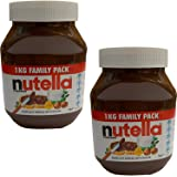 Nutella 1kg x 2 Jars Hazelnut Spread with Cocoa Bulk Value Pack