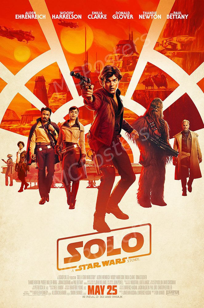 MCPosters Han Solo A Star War Story GLOSSY FINISH Movie Poster - MCP378 (24'' x 36'' (61cm x 91.5cm))