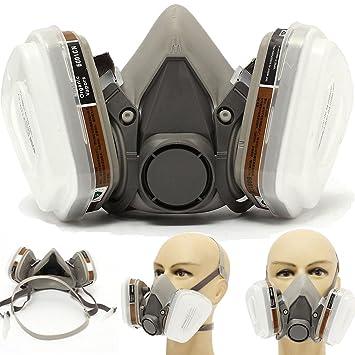 Máscara de gas antipolvo industrial químico accesorios para pintura, polvo, productos químicos, pulido