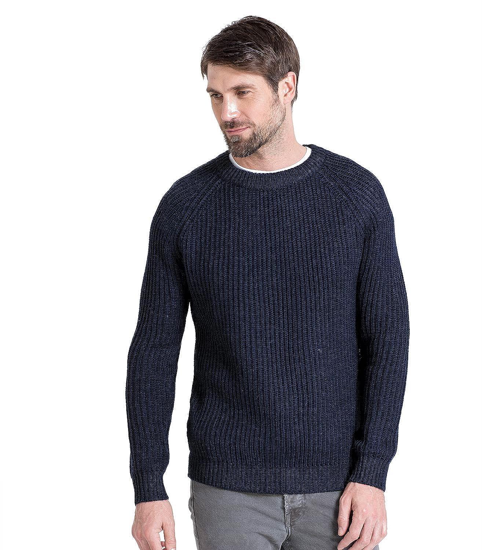 WoolOvers Rippstrickpullover, Herren (Schurwolle) F31