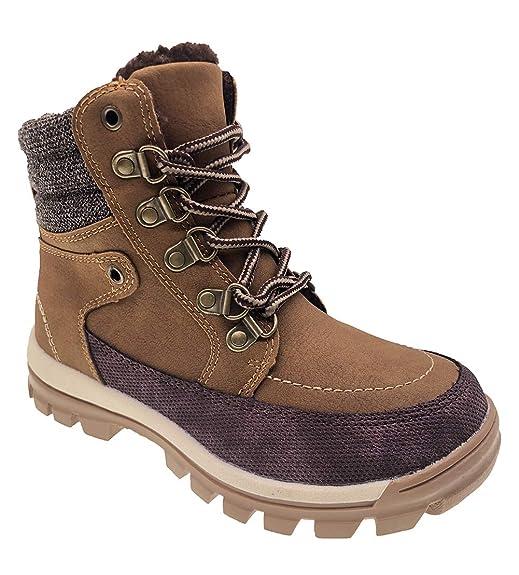 277fb58aa011d Amazon.com: TZJS Waterproof Hiking Boots for Boys Girls' Winter Anti ...