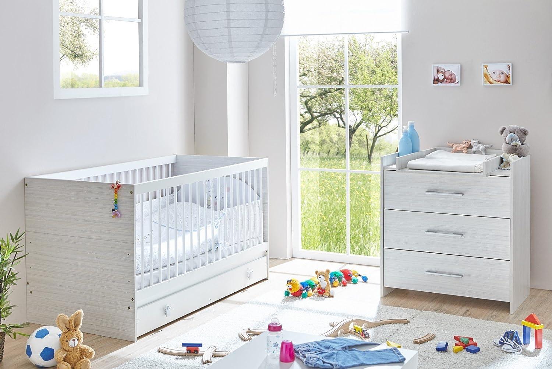 TICAA Babyzimmer Leona 3-teilig grau meliert