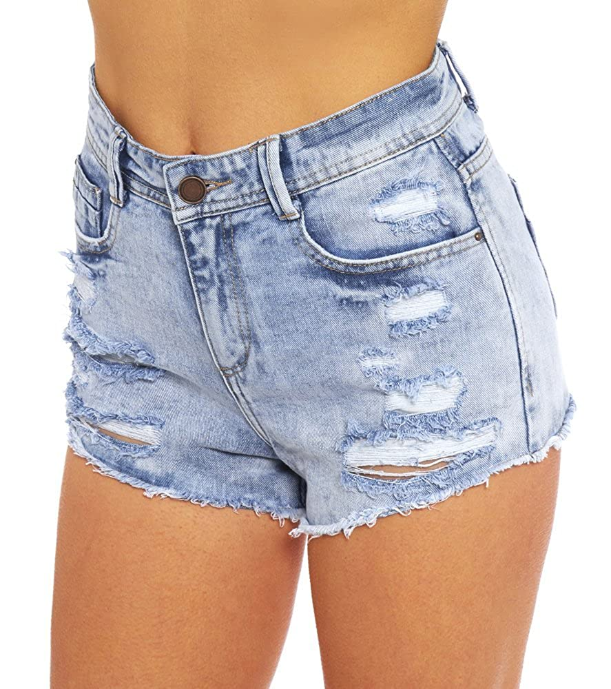 SS7 Nouvelles Femmes Taille Haute Déchiré Short 75007afa795