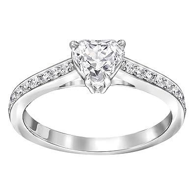 Amazon Com Swarovski Attract Heart Ring Size 8 5221388 Jewelry