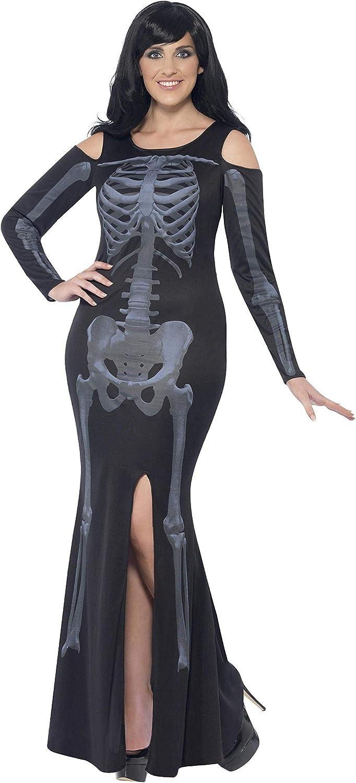 Smiffys, skelet kostuum, jurk,