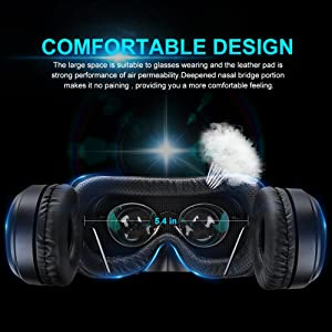 Pansonite Vr Headset with Remote Controller[New Version], 3D Glasses Virtual Reality Headset for VR Games & 3D Movies, Eye Care System for iPhone and Android Smartphones (Color: BROWN, Tamaño: iPhone 4/ 4S)