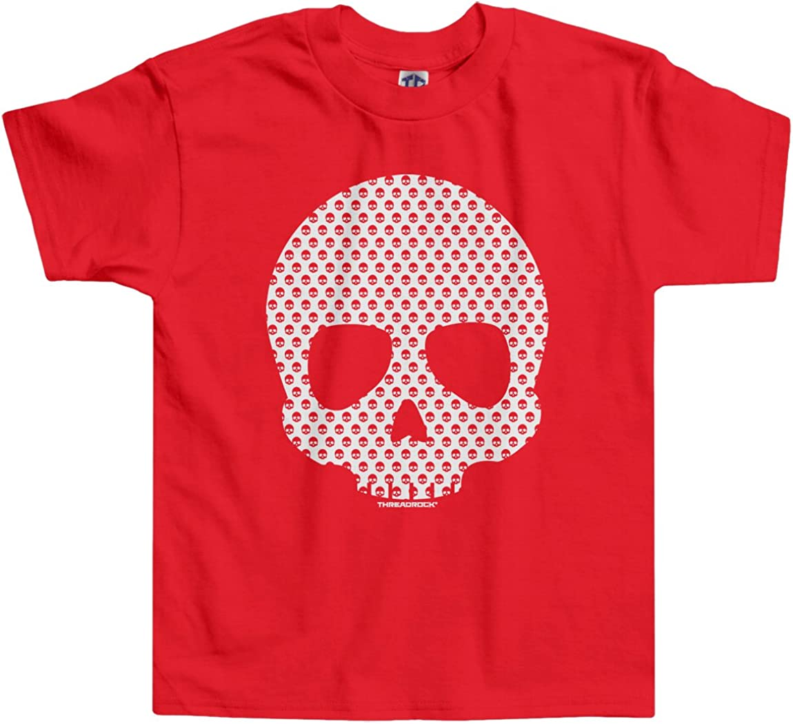 Threadrock Little Boys\' Skull Made of Skulls Toddler T-Shirt 4T Red