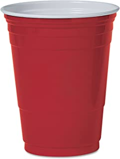product image for Party Cup, Plastic Construction, For Cold Drinks, 16 Oz Capacity, Red, 50/Bag SLOPS16R