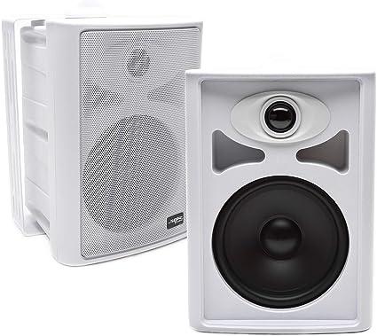 6.5 Outdoor weatherproof patio speaker pair white PSP-W1 by AVX Audio