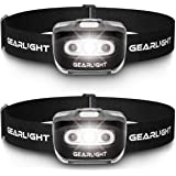 GearLight LED Headlamp Flashlight S500 [2 PACK] - Running, Camping, and Outdoor Headlamps - Best Head Lamp with Red Safety Li