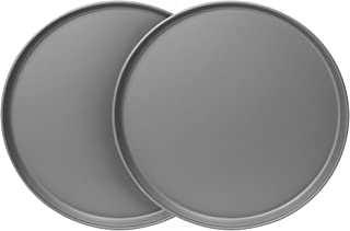 """product image for G & S Metal Products Company OvenStuff Nonstick 12"""" Pizza Pan, 2-Piece Set, Gray"""