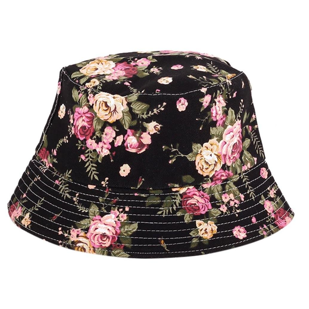 4f66cadd91e VPASS-Adjustable Bucket Cap Flower Print Slouch Boonie Wide Brim Sun Hats  Nepalese Cap Army Mens Packable Fisherman Hat (B)  Amazon.co.uk  Sports    Outdoors