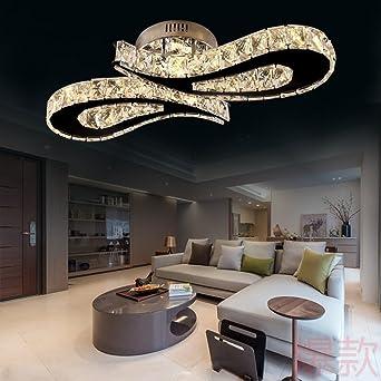 Fantastisch 36W LED Deckenlampe Kristall Modern Decken Leuchte Einfach  Kreativ Wohnzimmer Lampen Deckenleuchte Schlafzimmer Esszimmer Küche