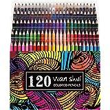 120 Colored Pencils - Premium Soft Core 120 Unique Colors No Duplicates Color Pencil Set for Adult Coloring Books…