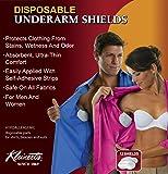 "Kleinert's Disposable Peel & Stick Absorbent Underarm Pads. 12 PADS (6 Pair) Style # MW-4900. Measures 5"" W x 5 3/4"" L. Discreet, Comfortable, Sweat Free, Odor Blocker, Peel And Stick Dress Shields"