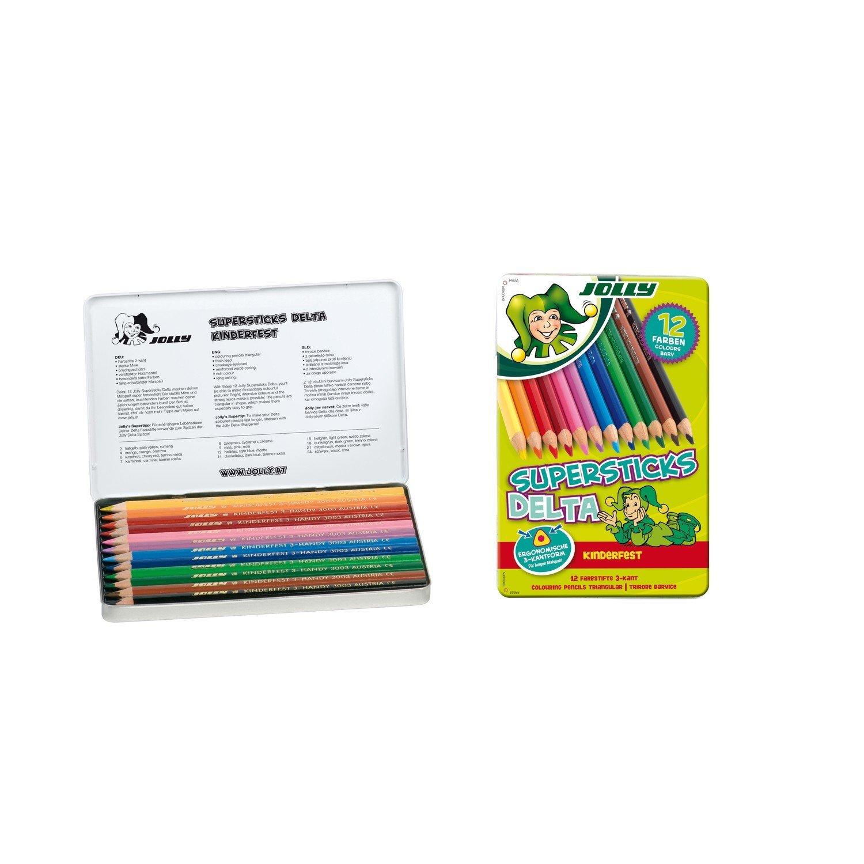 """12er Pack hellgrün Jolly 3000-0259 /""""Supersticks/"""" Buntstifte Kinderfest"""