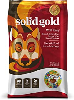 product image for Solid Gold - Wolf King with Real Natural Bison & Brown Rice - Whole Grain Rich - Large Breed Holistic Dry Adult Dog Food