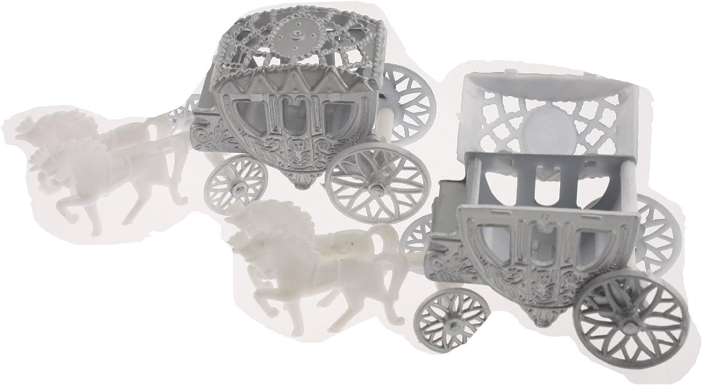Clear 2 Cinderella Coach Wedding Carriage Favor Plastic