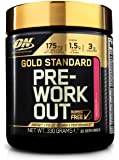 Optimum Nutrition Gold Standard Pre Workout Energy Powder Drink with Creatine Monohydrate, Beta Alanine, Caffeine & Vitamin B Complex by ON - Watermelon, 30 Servings, 330g