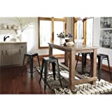 Signature Design by Ashley D542-13 Pinnadel Collection Counter Height Dining Room Table, Light Brown, Counter Height