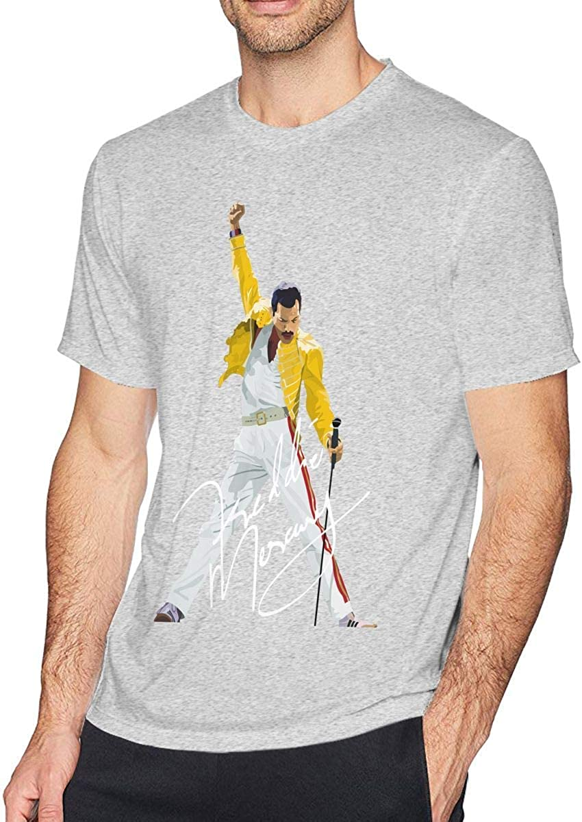 Skyey Camiseta Camiseta Inspirada en algodón Freddie Mercury de JohnHA para Hombre