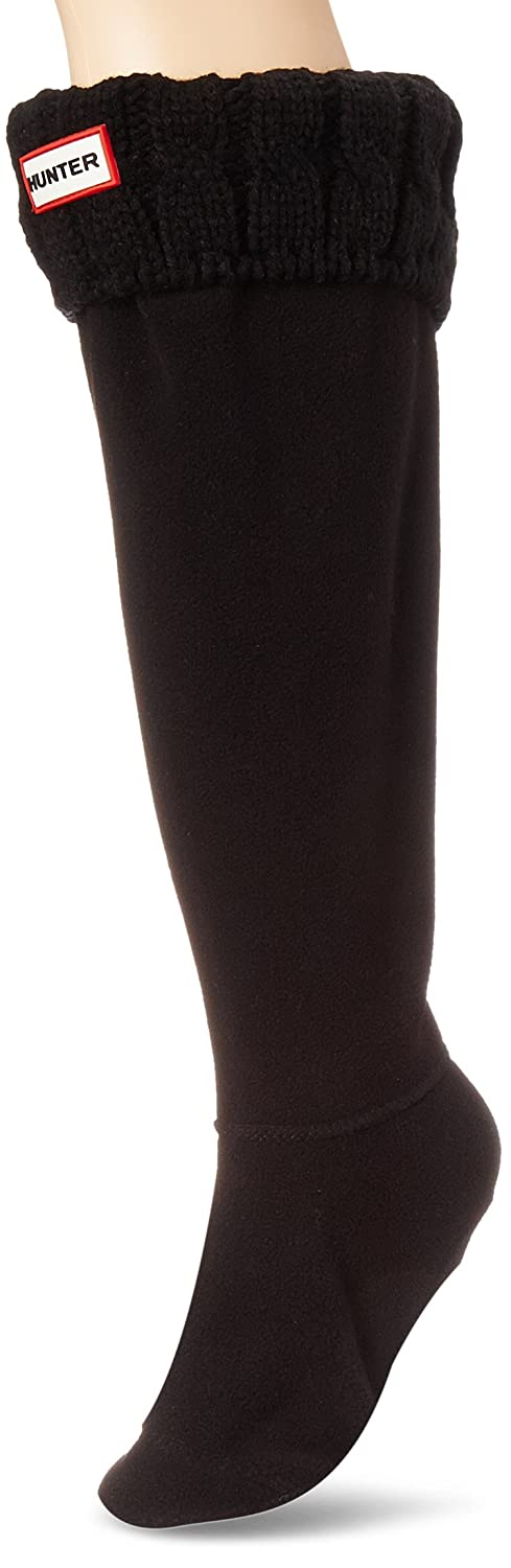 Hunter Cable De Puntada 6 Calcetines Blanco Natural: Amazon.es: Ropa y accesorios