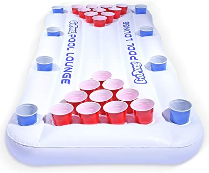 Amazon.com: GoPong Pool Lounge Beer Pong Inflable with ...
