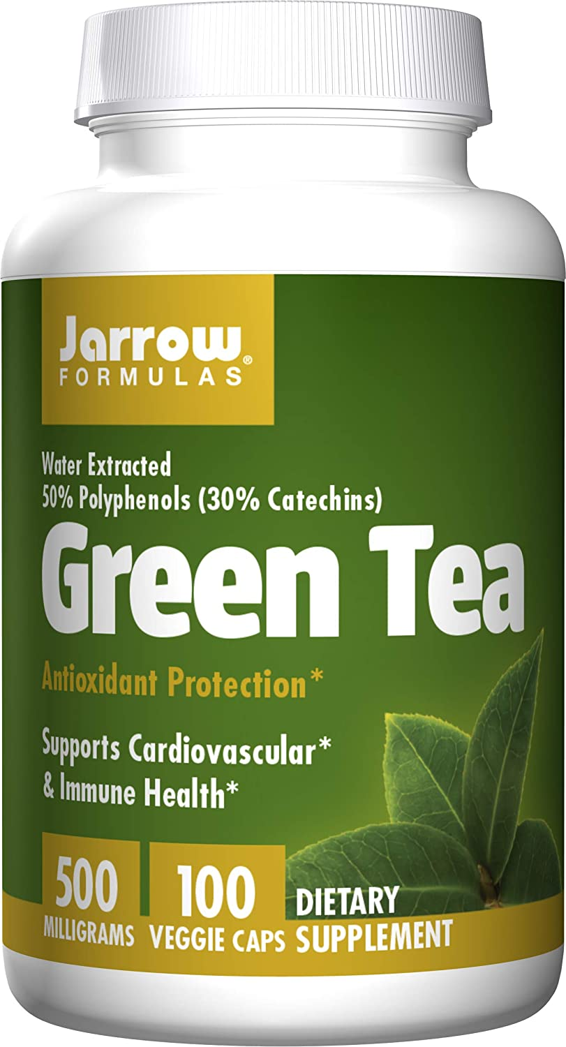 Jarrow Formulas Green Tea, Supports Cardiovascular & Immune Health, 500 mg, 100 Caps: Health & Personal Care