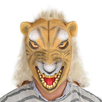 Magic3org fiesta de Halloween show disfraz mascara mascara de lobo con cara amarilla.