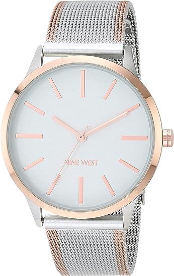 Nine West Women's Mesh Travel Bracelet Watch