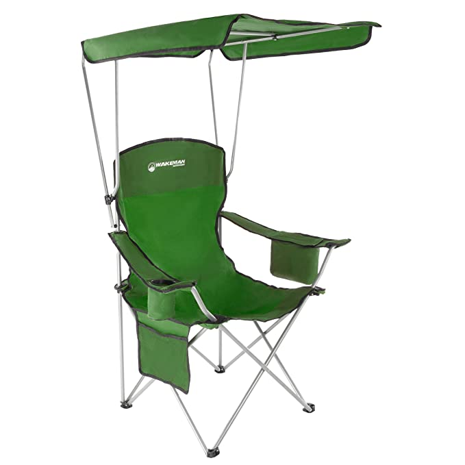 Terrific Amazon Com Wakeman Outdoors Camp Chair With Canopy 300Lb Spiritservingveterans Wood Chair Design Ideas Spiritservingveteransorg