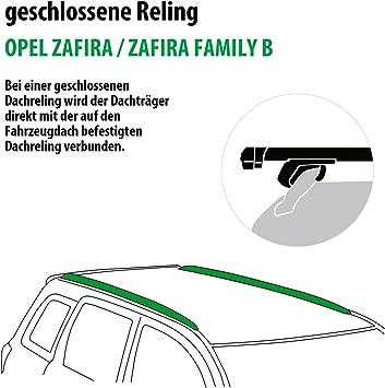 Rameder Komplettsatz Dachträger Pick Up Für Opel Zafira Zafira Family B 111287 05425 25 Auto