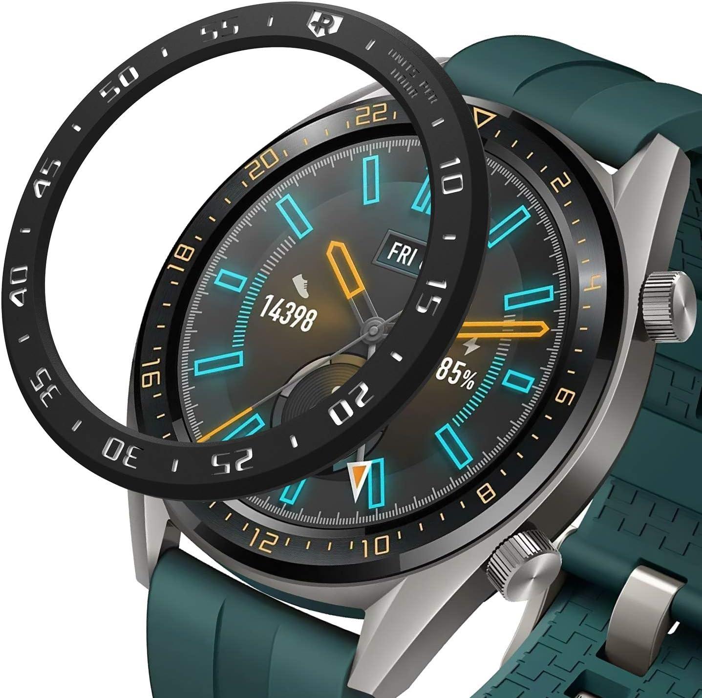 Ringke Bezel Styling Diseñado para Funda Huawei Watch GT 46mm (Compatible con Sport, Active, Classic Edición) - HW-GT-46-03 (Black)
